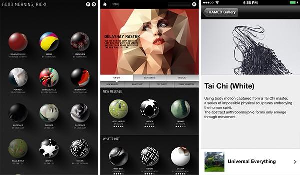 Screenshot per l'applicazione mobile di FRAMED 2.0