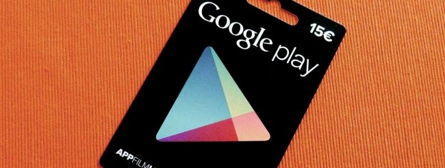 Google Play, carte regalo