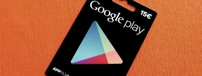Google Play, carte regalo