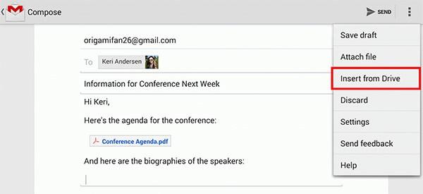 Gmail: come allegare un file di Google Drive all'interno dei messaggi, tramite l'applicazione per smartphone e tablet Android