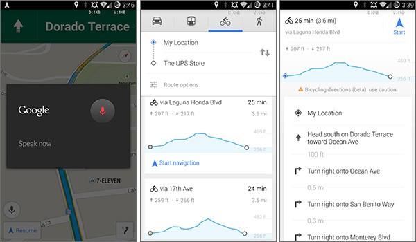 Alcune delle novità introdotte dalla versione 8.2 di Google Maps sui dispositivi Android