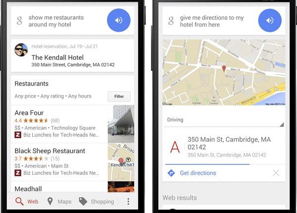 Google fornisce indicazioni rapide sui luoghi da raggiungere nei dintorni degli hotel prenotati per le vacanze