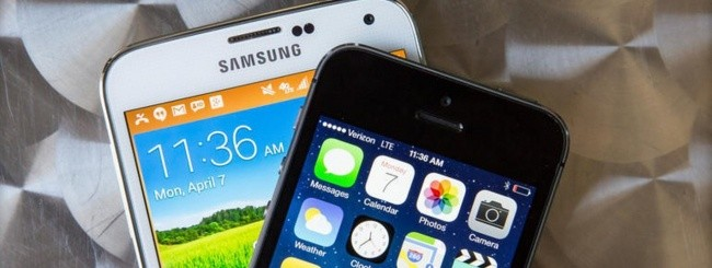 iPhone 5S e Samsung Galaxy S5
