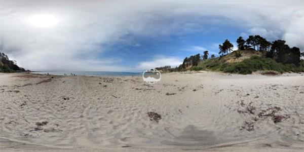 Uno scatto panoramico a 360 gradi realizzato con la modalità Photo Sphere dell'app Google Fotocamera sui dispositivi Android