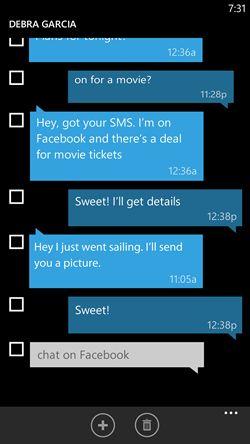 Windows Phone 8.1 Update 1 - SMS