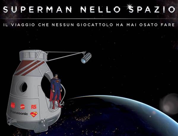 Superman nello spazio con Panasonic e Mattel
