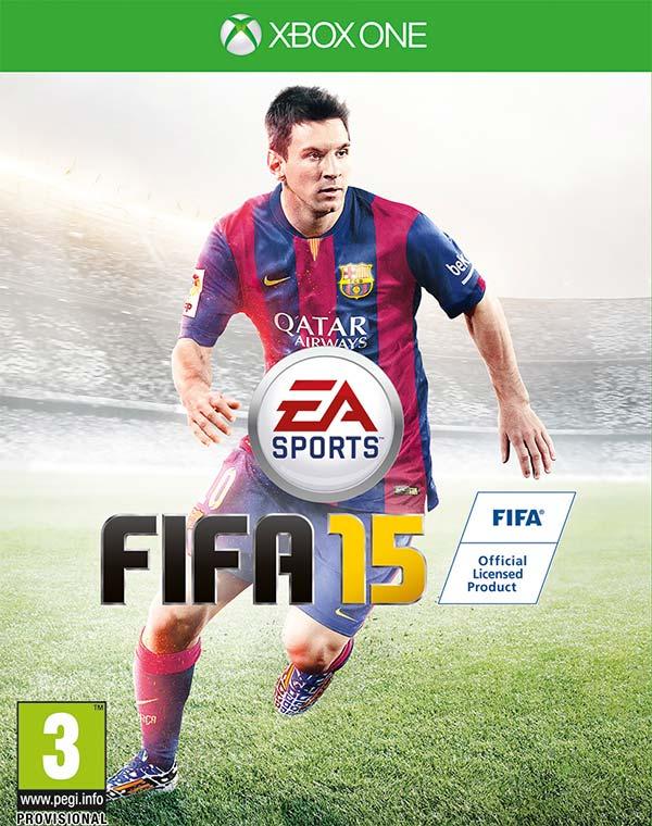 Lionel Messi sulla copertina globale di FIFA 15, qui in versione Xbox One