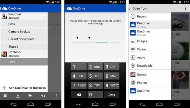 Supporto per OneDrive for Business in OneDrive per Android.