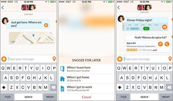 Screenshot per l'interfaccia dell'applicazione Emu su iPhone