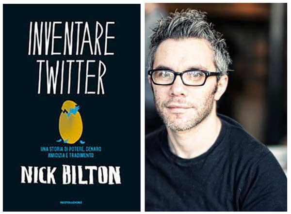 Inventare Twitter (titolo originale: Catching Twitter) è stato scritto dal columnist del Nyt Nick Bilton. Il libro non risparmia nessun particolare dello scontro tra personalità alla base della nascita del celebre social.