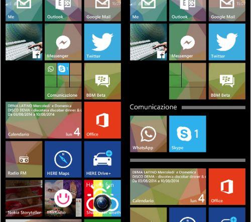 Windows Phone 8.1 Update 1 Live Folders