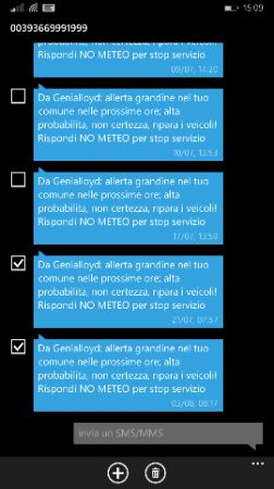 Windows Phone 8.1 Update 1 gestione SMS