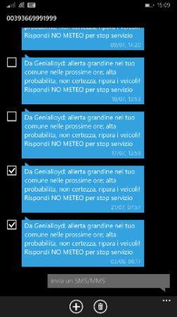 Windows Phone 8.1 Update 1 gestione SMS