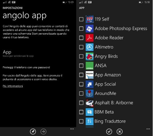 Windows Phone 8.1 Update 1 Angolo App