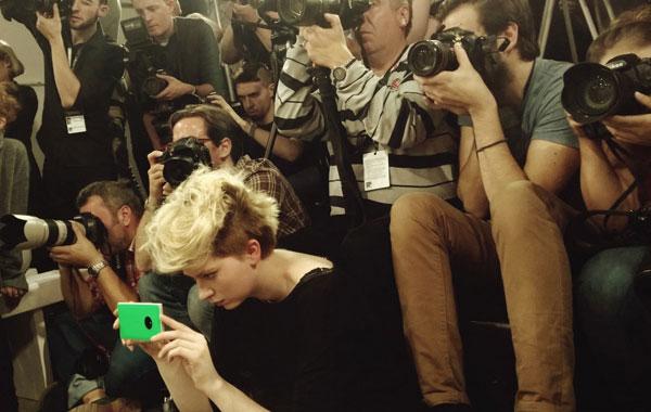Nokia Lumia 830 alla London Fashion Week