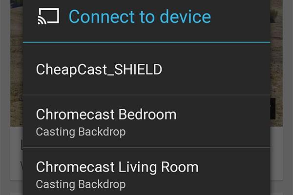 La funzionalità Backdrop attiva su Chromecast