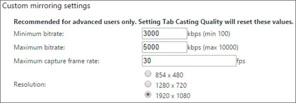 La nuova opzione per il casting dei contenuti a risoluzione 1080p attraverso Chromecast