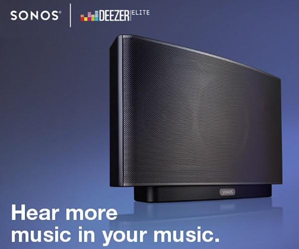 Deezer Elite nasce dalla collaborazione tra il servizio di streaming musicale e il produttore Sonos, per lo streaming lossless dei brani