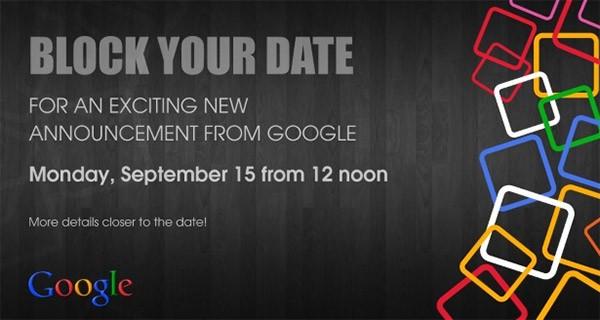 L'invito di Google per l'evento che si terrà il 15 settembre in India