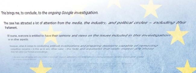 Google e antitrust europea