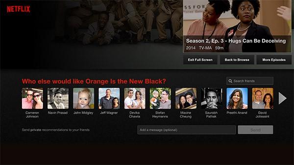 Il sistema di suggerimenti basato su Facebook, integrato in Netflix