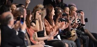 Fashion blogger, sfilata