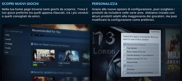 Alcune delle novità introdotte su Steam