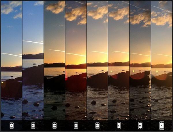 iPhone 6, test della luce