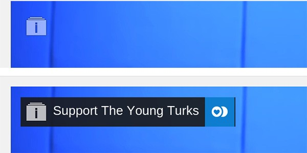 Il pulsante per le donazioni su YouTube