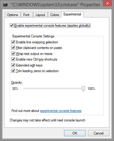Le nuove funzionalità avanzate della console in Windows 10.