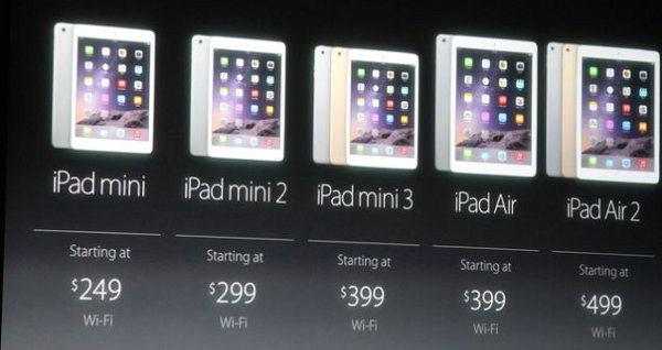 I prezzi della nuova gamma iPad mini e iPad Air