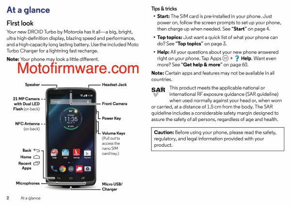 Il manuale del Motorola DROID Turbo trapelato online