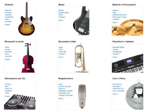 Negozio strumenti musicali e DJ su Amazon Italia