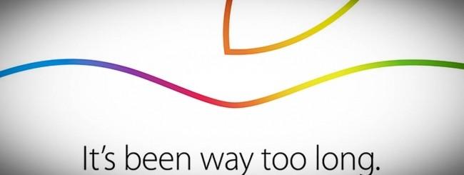 Invito Apple del 16 ottobre