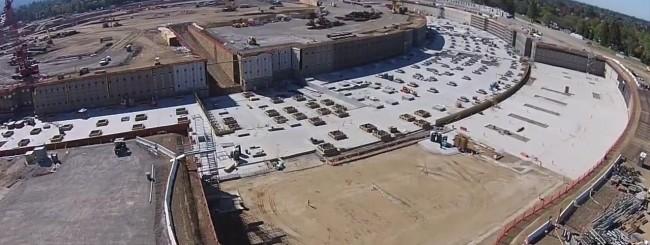 Campus di Cupertino, costruzione