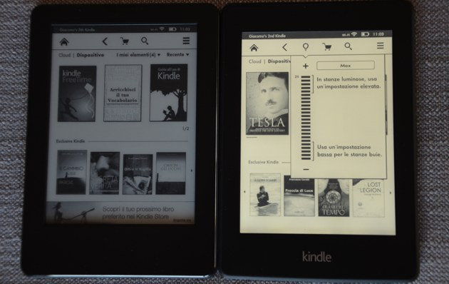 Kindle e Kindle Paperwhite a confronto