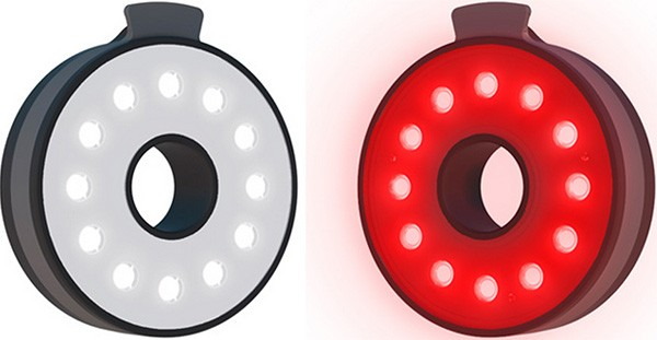 Le luci anteriore e posteriore per biciclette Double O Light