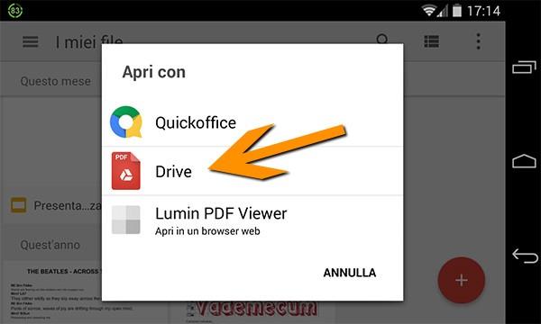 Il nuovo lettore di file PDF incluso in Google Drive su dispositivi Android
