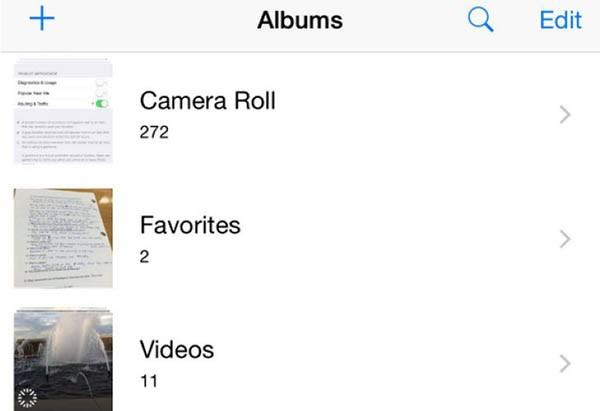Rullino foto in iOS 8.1