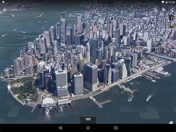 L'applicazione Google Earth per Android migliora il rendering dei modelli 3D