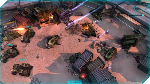 Uno screenshot per il gameplay di Halo: Spartan Strike