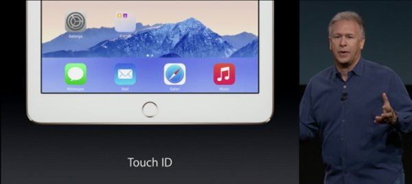 iPad Air 2 introduce il lettore di impronte Touch ID per la prima volta nella serie di tablet Apple