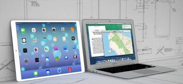 iPad Pro in un mockup accanto al MacBook Air