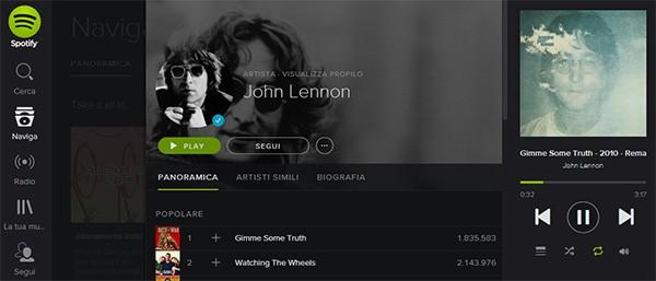 Gli album solisti di John Lennon, da oggi, sono in streaming su Spotify