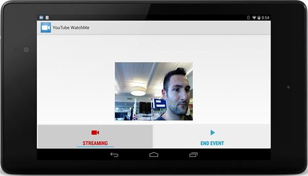 Un esempio di streaming live all'interno di un'applicazione Android, con YouTube WatchMe