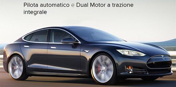 Tesla Model S con tecnologia Dual Motor e Pilota Automatico