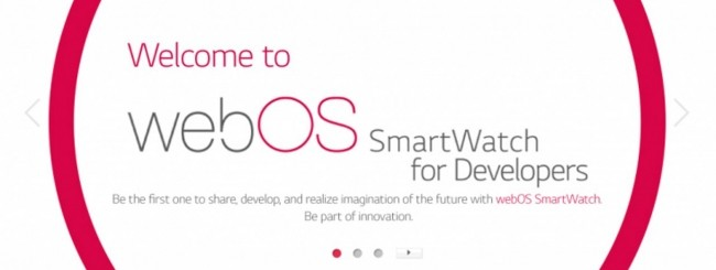 webOS smartwatch for developers