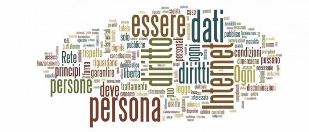 Le parole più usate nella Dichiarazione dei Diritti in Internet
