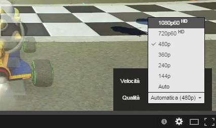 La nuova opzione 60 fps per i video 720p e 1080p di YouTube