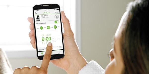 L'app per controllare da remoto Belkin Mr. Coffee 10-Cup Smart Optimal Brew Coffeemaker